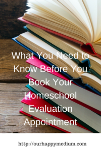 Homeschool Portfolio Evaluations