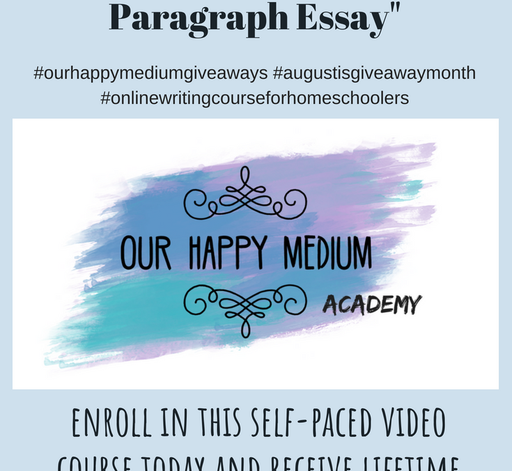Giveaway: Online Writing Course for Homeschoolers