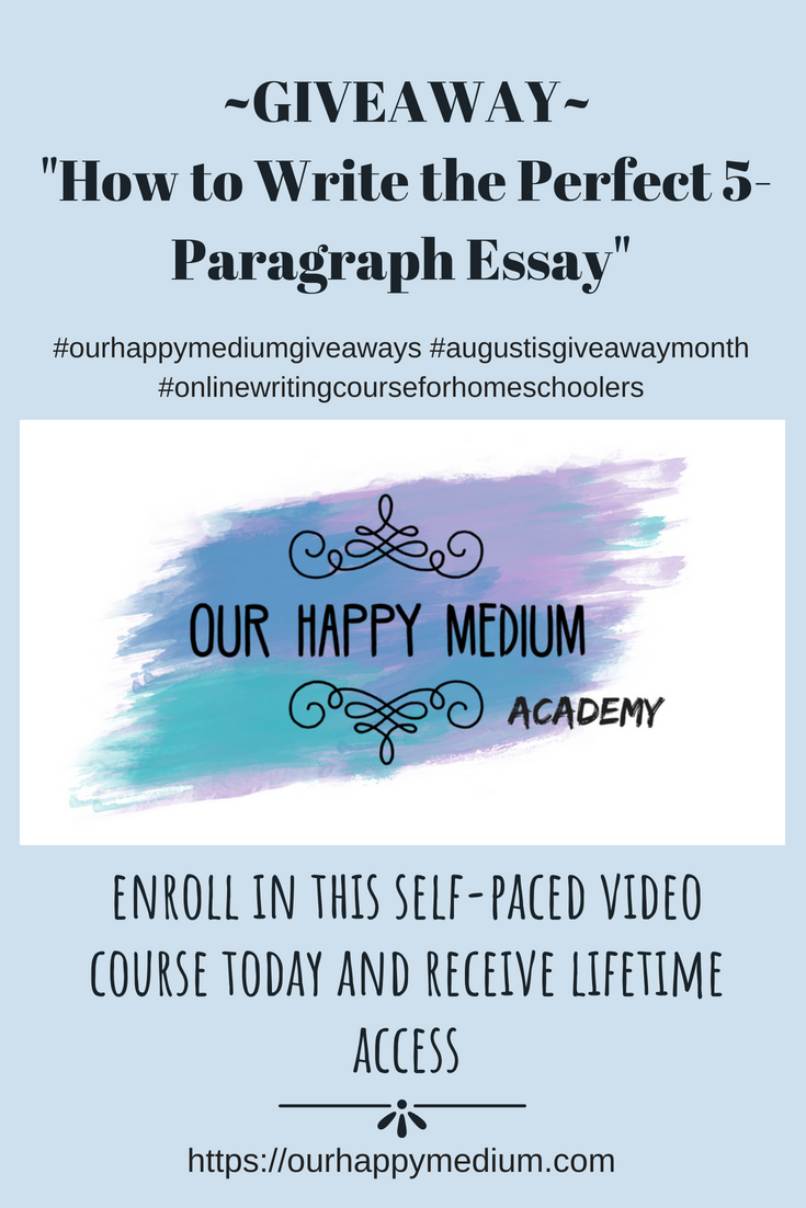 online writing course for middle and high school homeschool