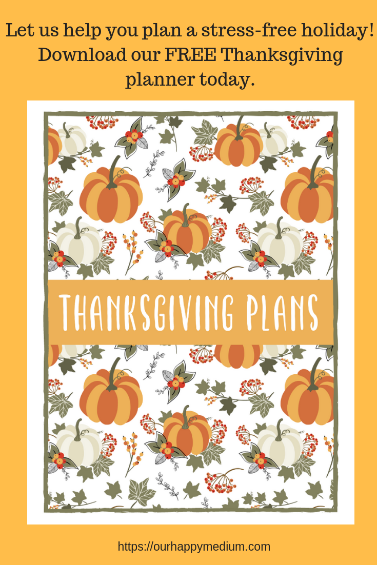Thanksgiving holiday planner