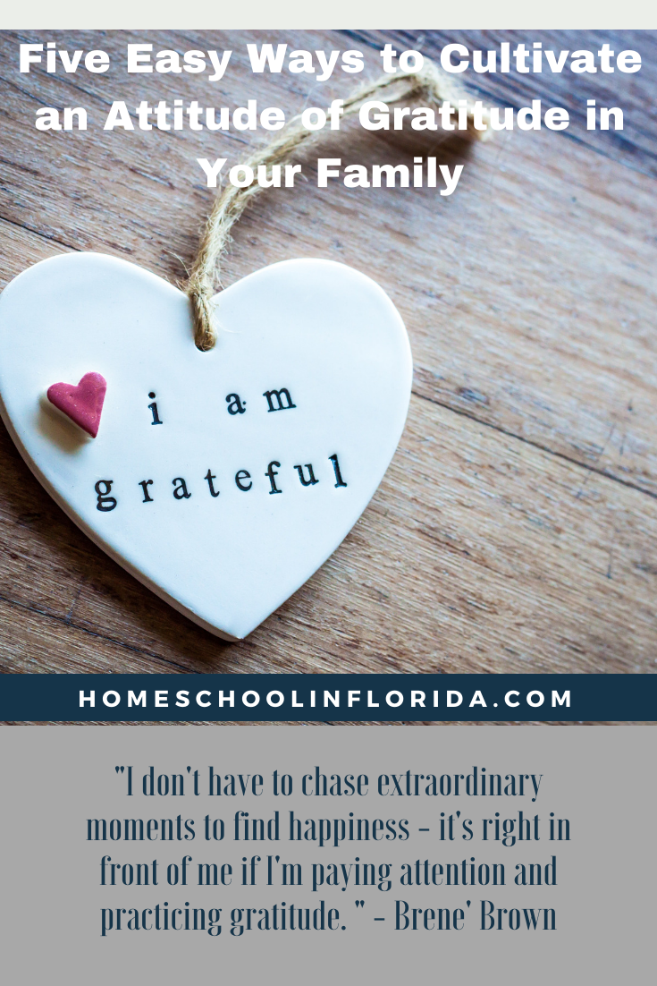 Homeschool in Florida Attitude of Gratitude