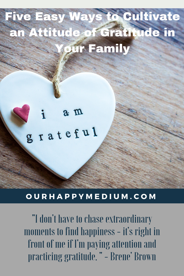 cultivate an attitude of gratitude in your family