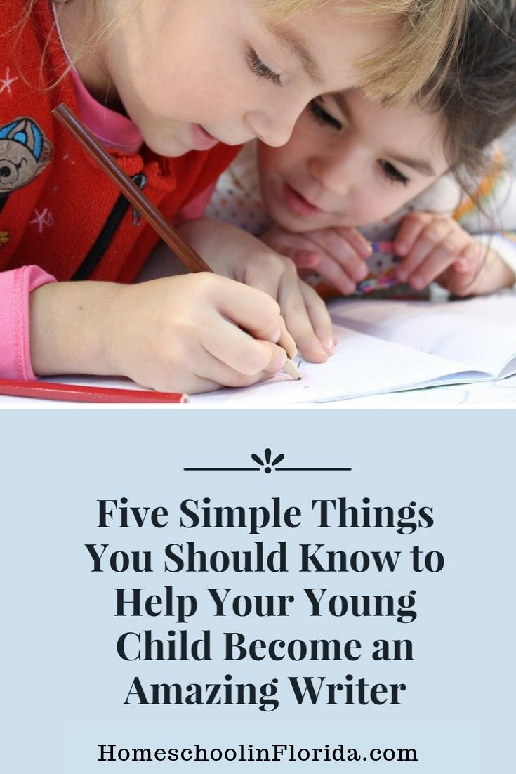 help your young child become an amazing writer