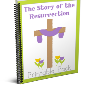 Easter printables for kids, the story of the resurrection for kids, homeschoolers Easter pack