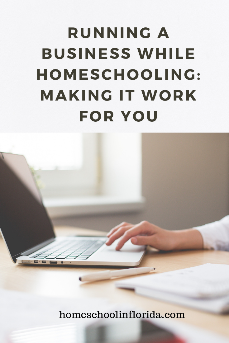 Running a business while homeschooling