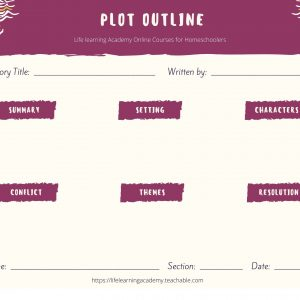 life learning academy free plot outline graphic organizer