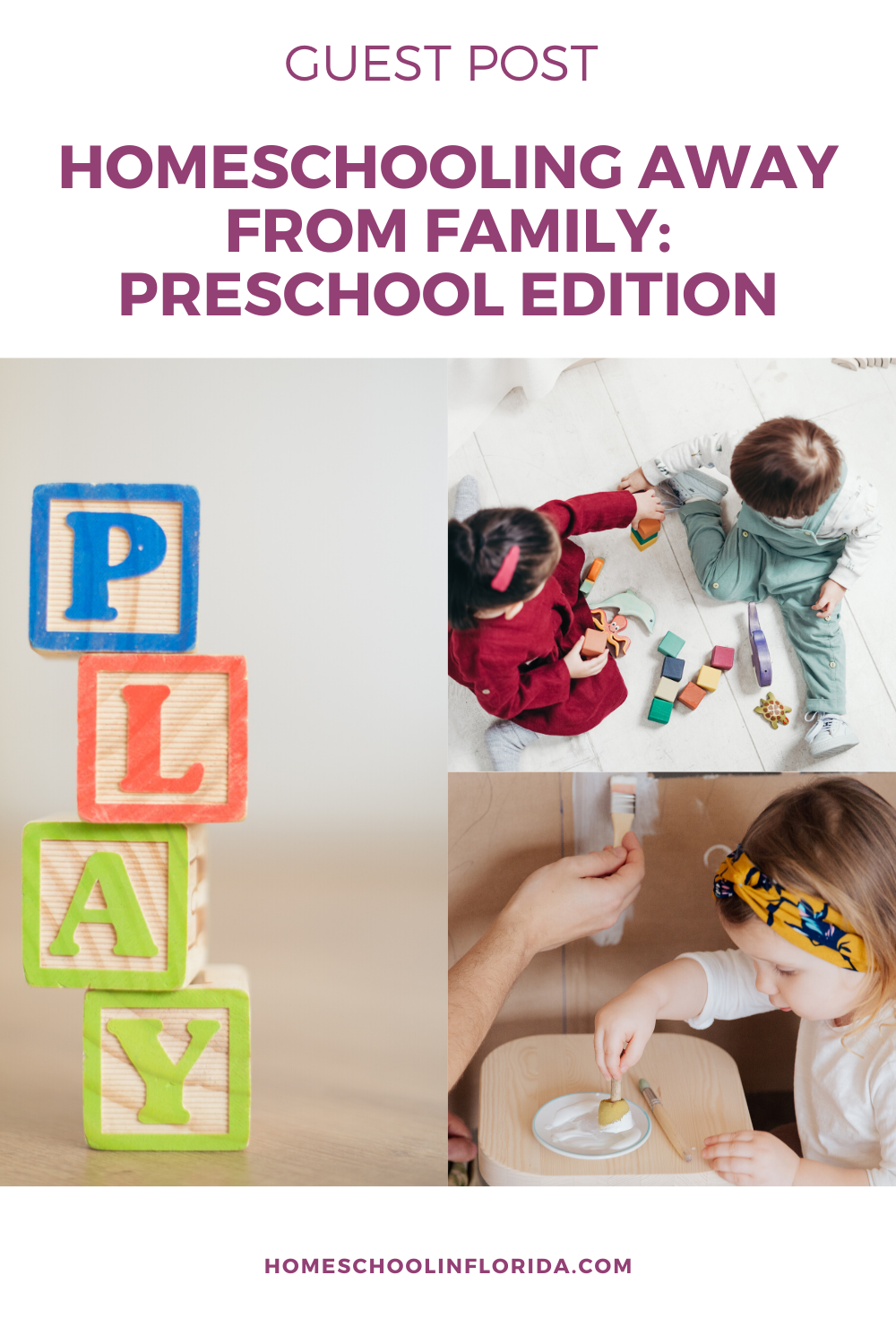 homeschooling away from family: preschool edition